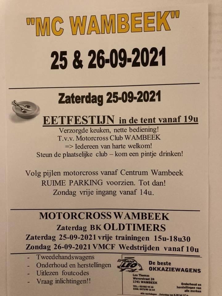 Wambeek 26 sept - September 26, 2021